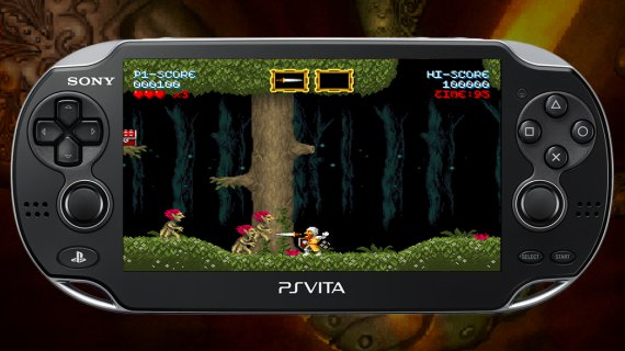 Cursed Castilla on PS Vita, Don Ramiro faces the demons at the forest stage