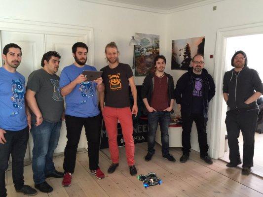 Abylight team meeting KnapNok workers