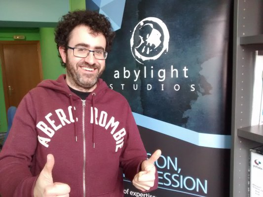 Ramon Nafria, also known as NaeVal, will be waiting for you at the Abylight stand