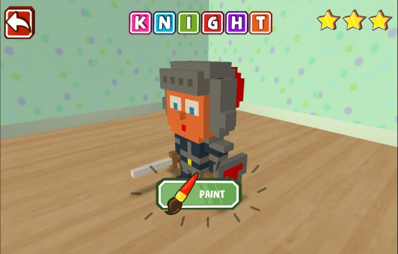 Qbics Paint knight, prepare to paint a mighty knight in Qbics, paint mode let the players be as creative as they can to create the most beautiful Qbics