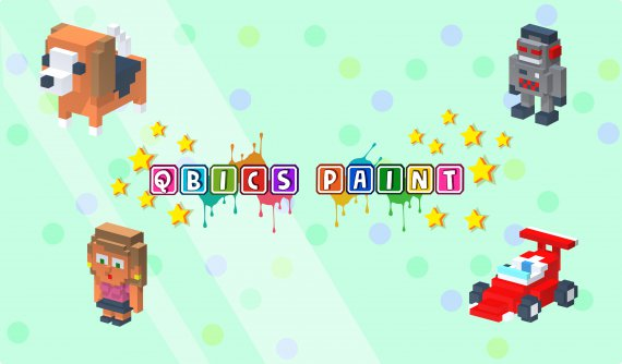 Qbics Paint wallpaper, get ready to be a great artist and unleash all your creativity in this awesome de-stressing game