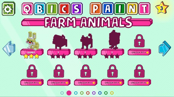 Qbics Paint, choose your qbic menu, with the farm animals, unleash your creativity and prepare to be the best artist