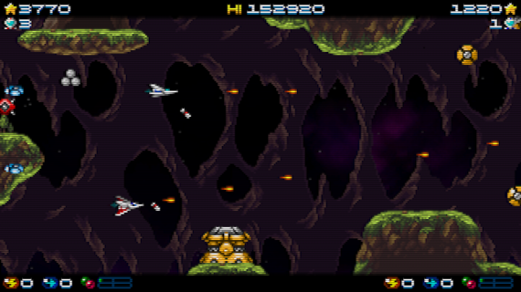 Super Hydorah shoot'em up arcade videogame co-op mode
