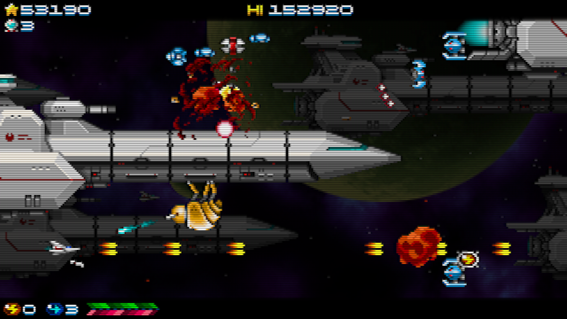 Super Hydorah screenshot, dodging and destroying the enemies