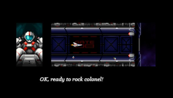 Super Hydorah pilot is getting ready to get some fun at this indie shoot'em up arcade game