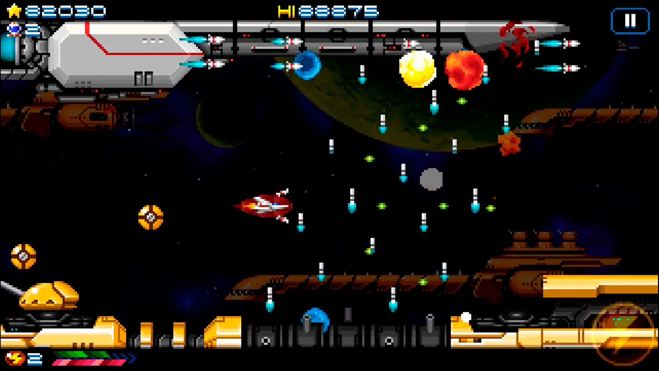 super hydorah screenshot iOS, shmup, shoot'em up, arcade, indie, mobile